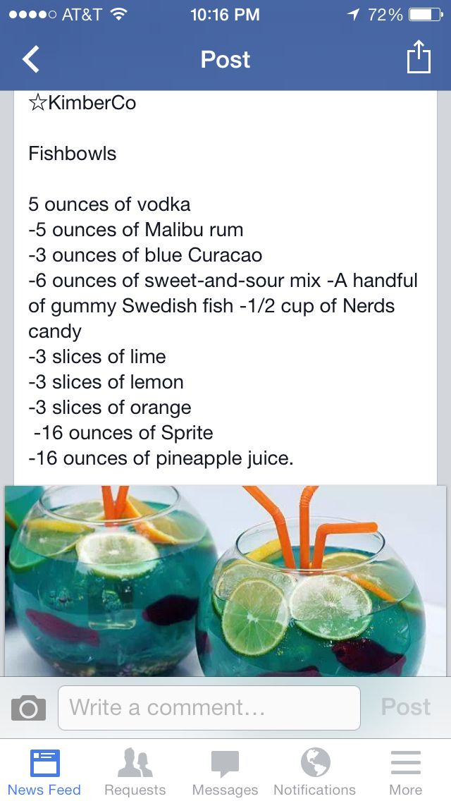 Fishbowl drinks @Kym Ferbey Forthun were making this,this summer!!!