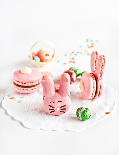 Easter bunny macarons  from Raspberri Cupcakes