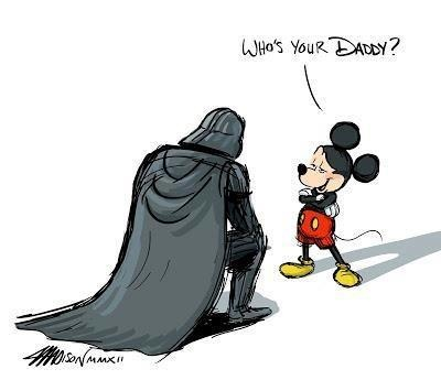 Disney compra Lucas Film e scoppia la parodia di Guerre Stellari
