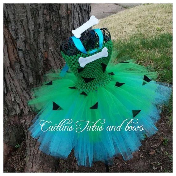 Pebbles tutu dress, pebbles costume, pebbles tutu, flintsones pebbles, pebbles halloween costume, tutu costume, pebbles tutu costume