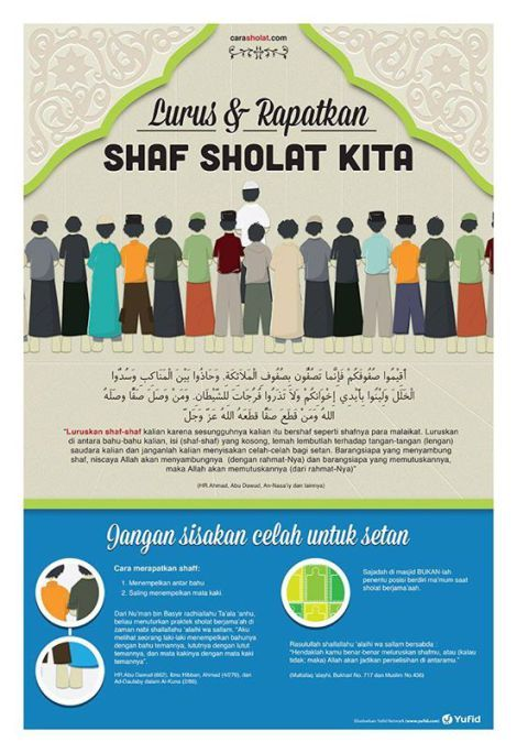 Downlaod Gratis Poster Rapat Dan Luruskan Shaf Sholat 2