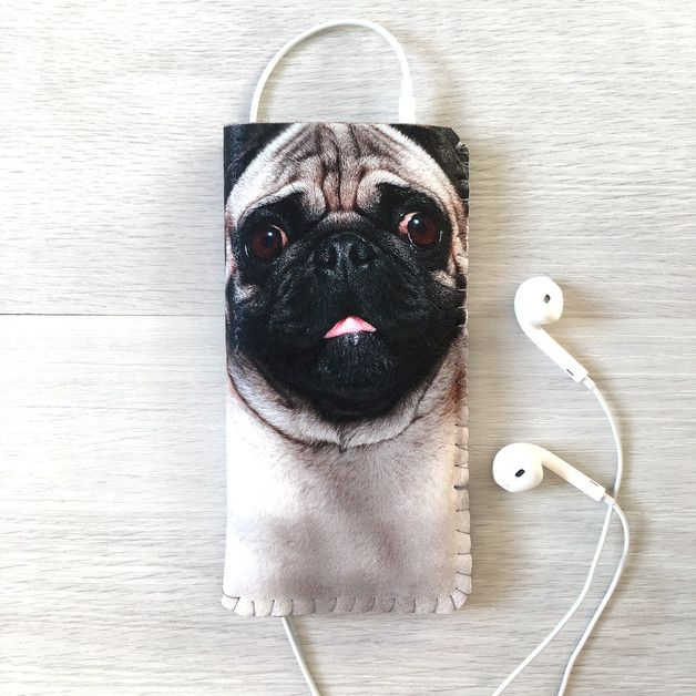 Phone Pouches – Pug Dog Phone Case Phone Pouch – a unique product by egoor on DaWanda