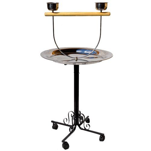 PARROT BIRD METAL PLAYSTAND PP_B71 toy cage cages toys gym african grey conure  BLACK * Click image for more details.Note:It is affiliate link to Amazon.