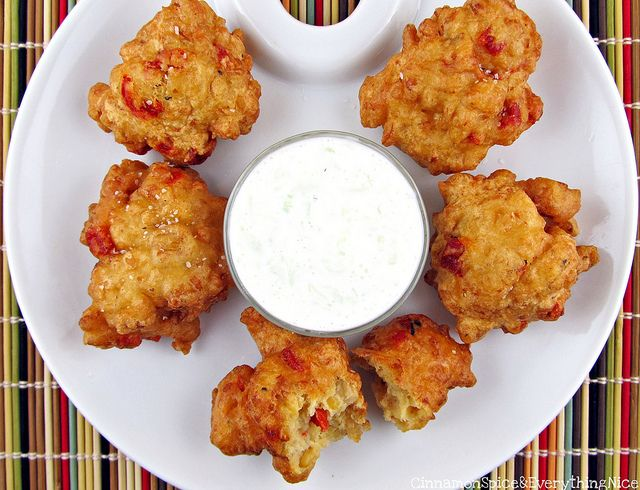 Chickpea Fritters with Yogurt Dipping Sauce | Recipe