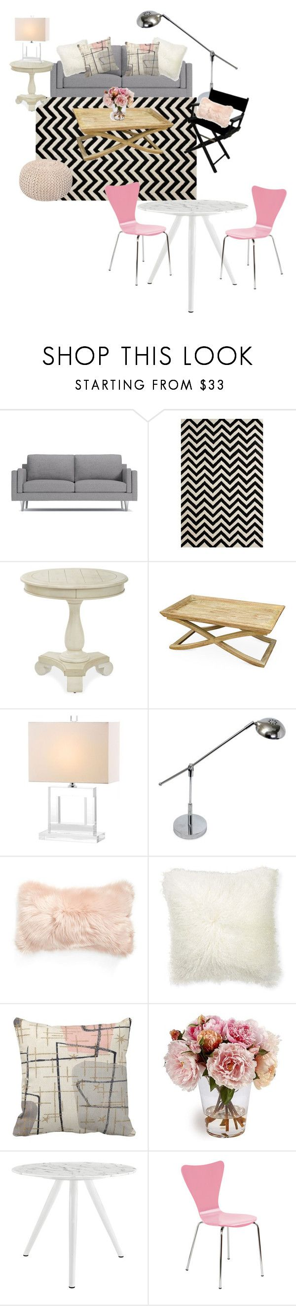 Living/dining by daniele-sing on Polyvore featuring interior, interiors, interior design, home, home decor, interior decorating, Legaré, West Elm, Simple Designs and nuLOOM