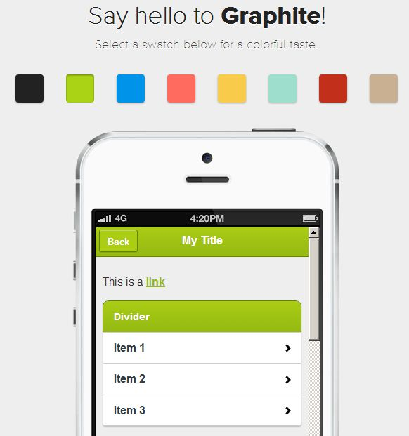 jQuery Mobile theme-pack and theme generator http://blogupstairs.com/mobile-theme-pack-generator-for-jquery-mobile-1-3-1/