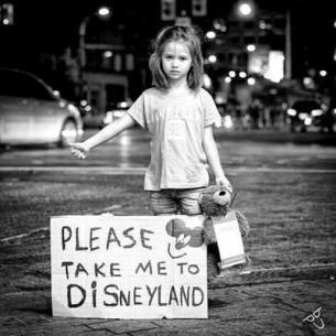 I will take Tara to Disneyland! Great Idea young child :)