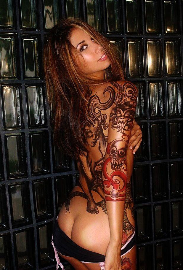 Nude girls rib Hot tattoo