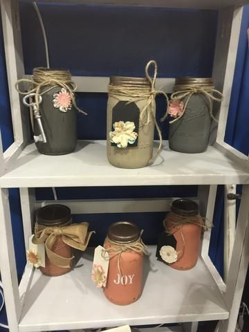 hand painted mason jars *MADE TO ORDER, please note that each one will be…
