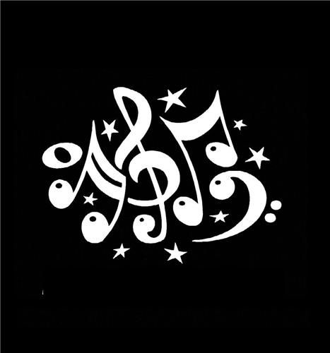 Music notes window decal sticker http customstickershop com