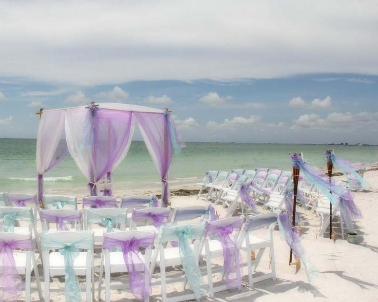 Lilac and aqua for Florida beach wedding dreams coming true at Suncoast Weddings
