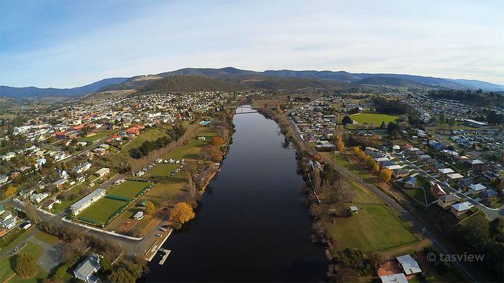 New Norfolk, nestled on the banks of the River Derwent, Tasmania.