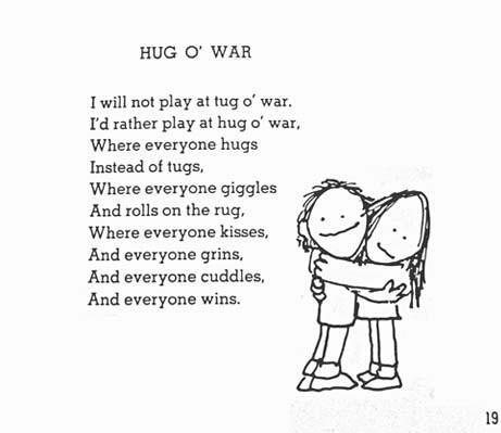 Bildergebnis für hug o'war poem