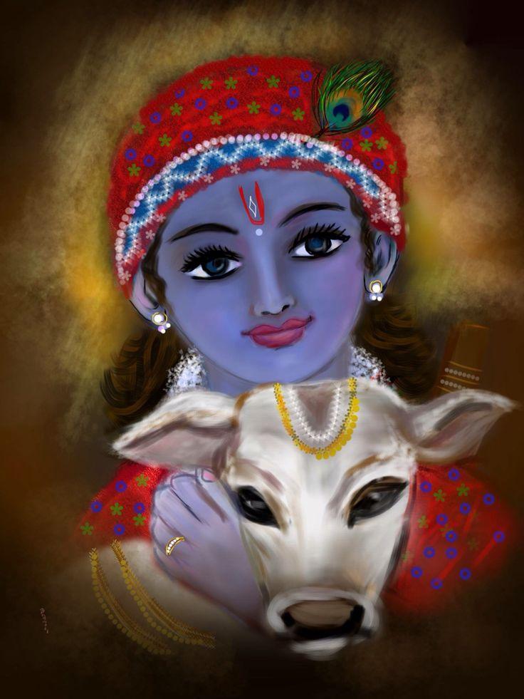 262 best krishna art images on Pinterest