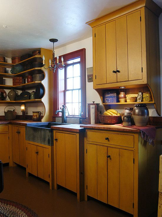 Tips For Kitchen Color Ideas: 17 Best Images About Primitive Kitchens On Pinterest