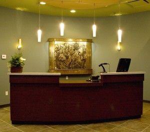 Reception Desk Fountain Ideas