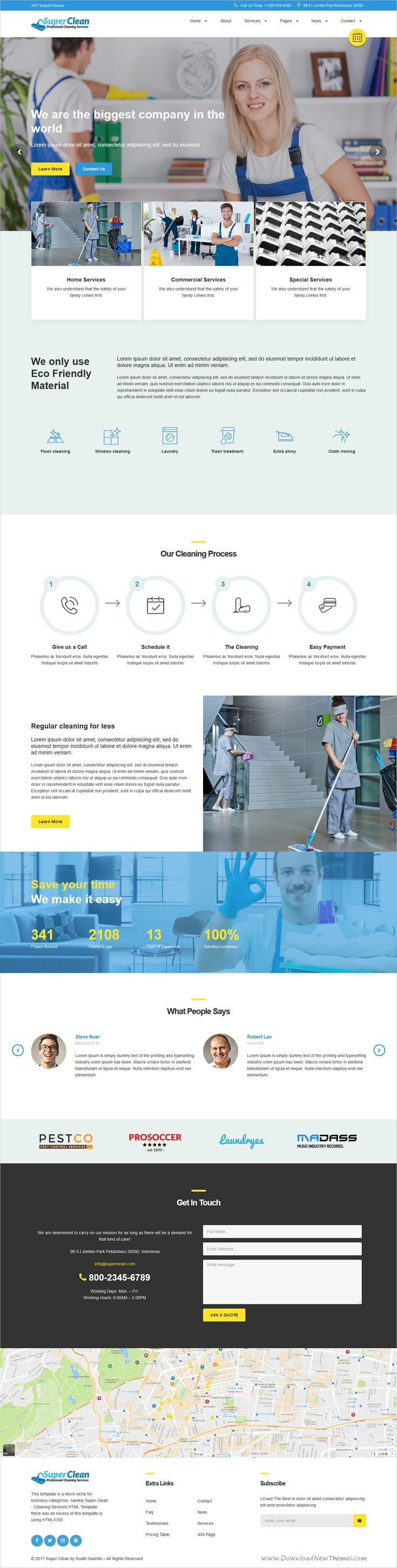 Super clean and unique and modern #design 2in1 responsive #HTML template for #cleaning service companies website download now > https://themeforest.net/item/super-clean-cleaning-services-html-template/19947280?ref=Datasata