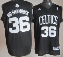 boston celtics 36 shaquille oneal big shamrock fashion swingman black nba jerseys wholesale cheap