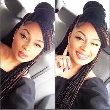 Image result for box braids two colors