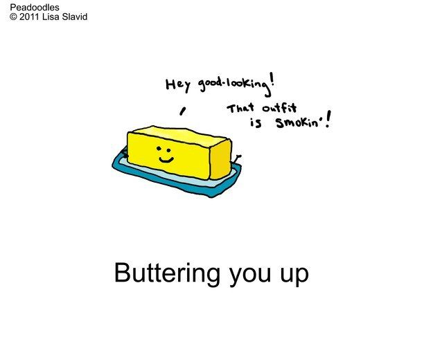 For anyone who needs a little encourage-mint! #likebutta #peadoodles #foodpuns