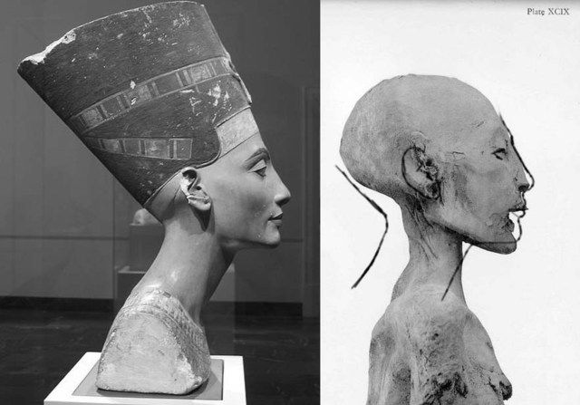 Queen Nefertiti's Tomb   ... as the elder lady mummy from the same tomb (queen Tiye) demonstrated