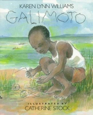 FICTION:Walking through his village, a young African boy finds the materials to make a special toy. (Estimating)