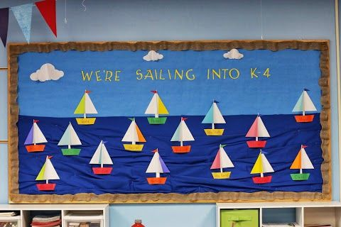 Back To School - We're Sailing Into A New School Year (Idea: Use rope around the bulletin board)