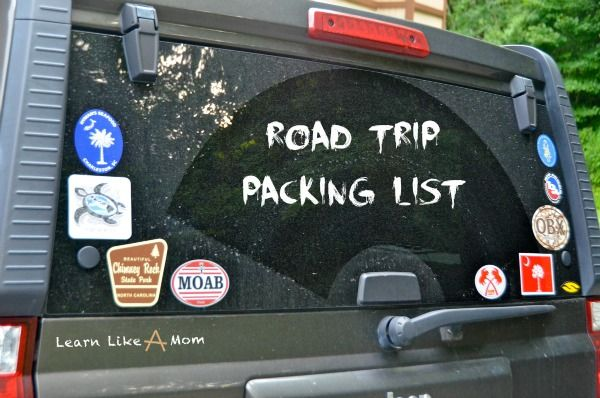 Top ten things to consider packing for a road trip with young children.