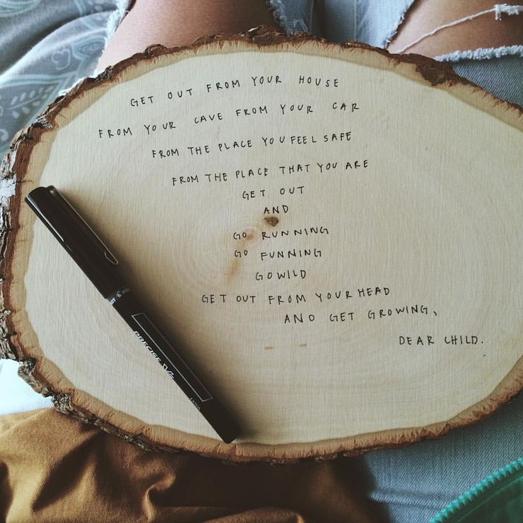 Really need poem/motivation and I like the material used. Could be cool to hang somewhere in the house and easy to make.