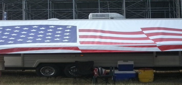 American Flag Rv Awning By Fun In The Shade Custom Rv