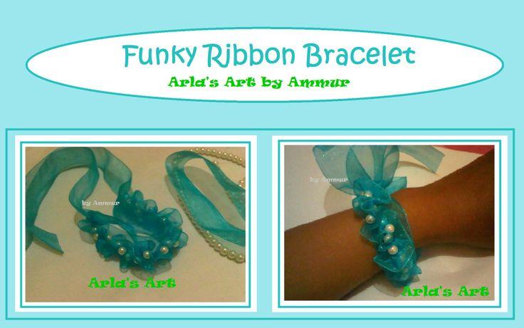 Funky Ribbon Bracelet ;-) my new bracelet creation :D