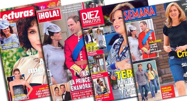 <<...empecé a buscar entre las revistas del corazón de Margarita, la secretaria>> (Cap. 20, pp. 30-32). Lola está buscando una foto de la Sra. Zabaleta para enseñársela a Miguel.