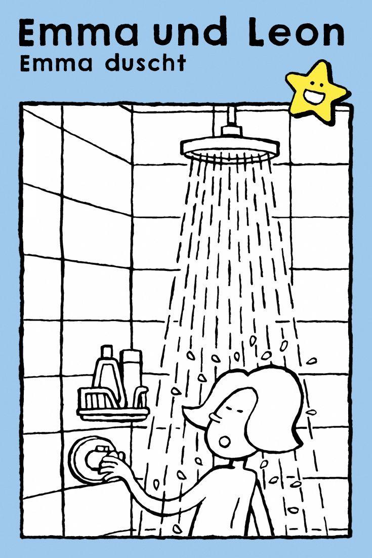 emma duscht  kiddimalseite  malvorlagen für mädchen