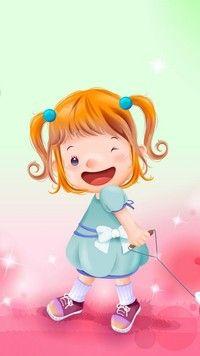Radosna dziewczynka