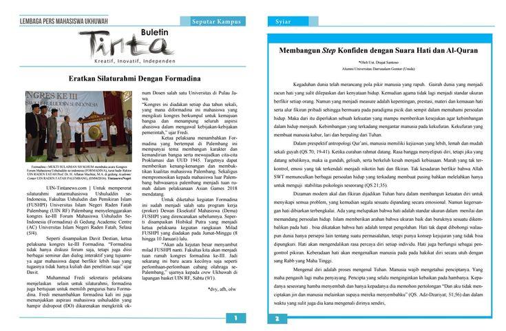Buletin Tinta Edisi 21, 8 April 2016