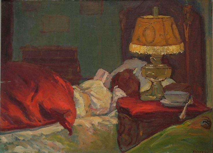 Sleeping woman with lamp   Kunffy Lajos   Rippl - Rónai Megyei Hatókörű Városi Múzeum - Kaposvár   CC BY