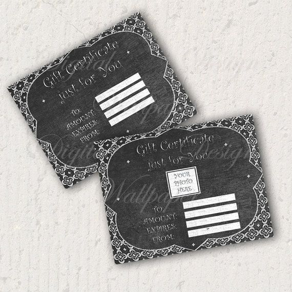 Chalkboard Gift Certificate,Gift Card,Printable Gift Certificate,Digital file,Digital Download,Instant Download,Chalkboard,Chalkboard Gift CertificateGift by DigitalDesignPaper on Etsy
