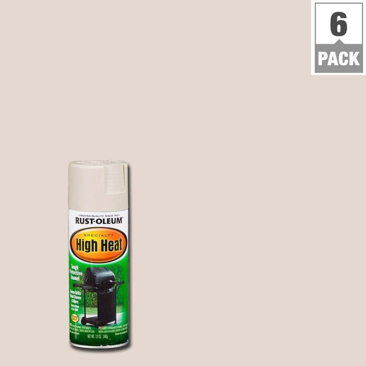 Rust-Oleum Specialty 12 oz. Almond (Brown) High Heat Spray Paint (6-Pack)