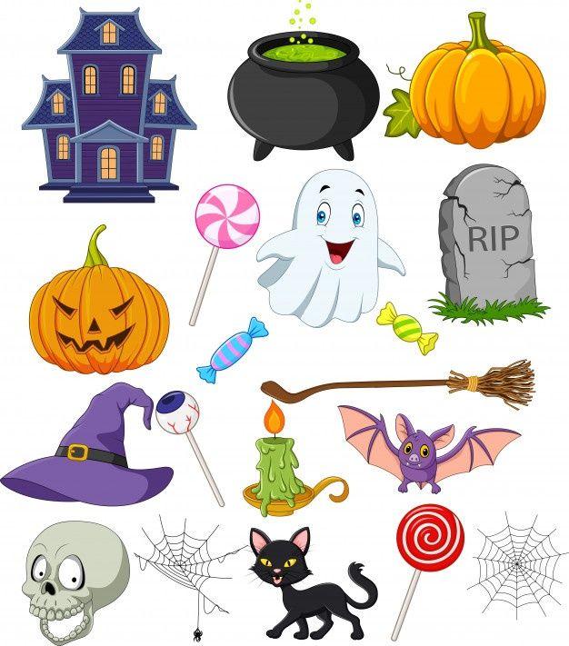 Cartoon Halloween Symbols Collection Set Premium Vector Freepik Vector Halloween House Cartoon Ca Halloween Symbols Fairy Cartoon Halloween Cartoons