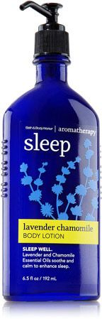Bath & Body Works' Sleep Lavender Chamomile Body Lotion (that I like for stress relief)  http://www.bathandbodyworks.com/product/index.jsp?productId=11669885