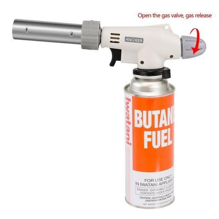Cook Torch Kitchen Food Cooking Blow Torch Butane Brazing Silver Creme Brulee #Generic
