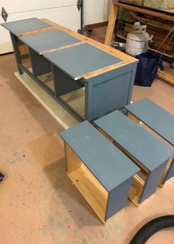 Ikea Hemnes Hack Diy Mudroom Bench Und Lagerung In 2020 Mit Bildern Ikea Garderoben Ideen