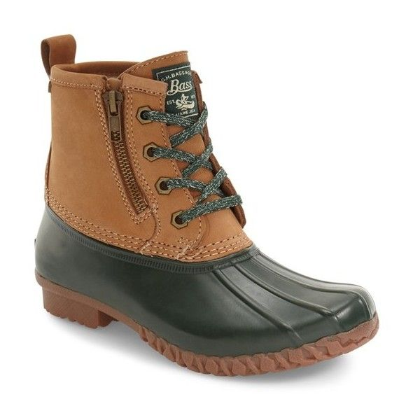 Women's G.h. Bass & Co. Danielle Waterproof Duck Boot ($120) ❤ liked on Polyvore featuring shoes, boots, lined duck boots, water proof shoes, fleece-lined shoes, g.h. bass & co. shoes and water proof boots