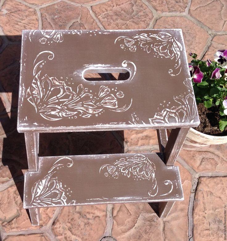 """Купить Табурет-стремянка """"шоколад"""" - подставка, стремянка, стул, коричневый, декор интерьера"""