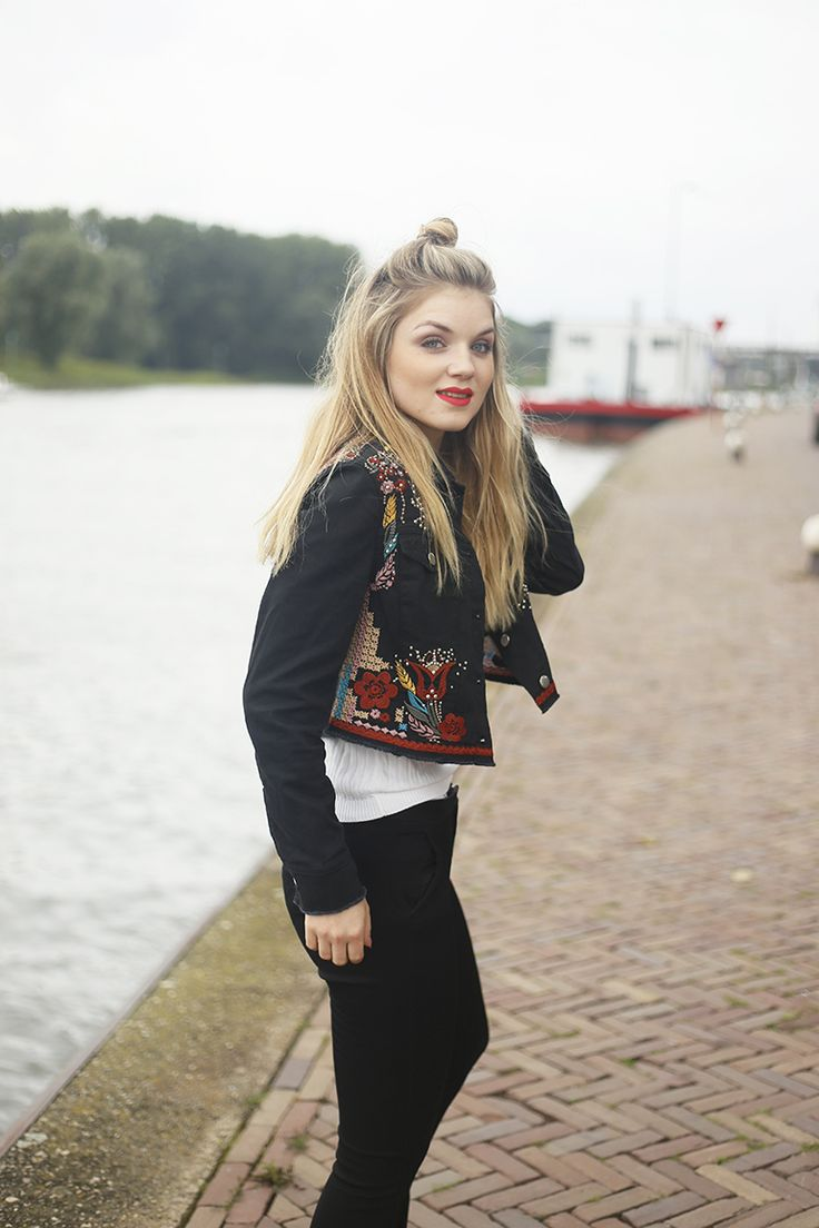 Embroidered jacket http://www.fashionisaparty.com/2016/10/vogue-online-shopping-night.html/