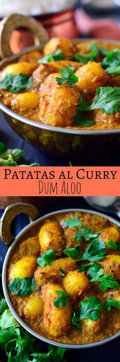 Esta receta de patatas al curry es fácil de hacer con ingredientes que ya tienes en tu cocina y llena de sabores. Las patatas estan fritas y luego cocidas en una salsa de tomate y anacardo infusionada con especias indias aromaticas. Estas patatas al curry te van a sorprender por el sabor que se puede conseguir con ingredientes tan simples.