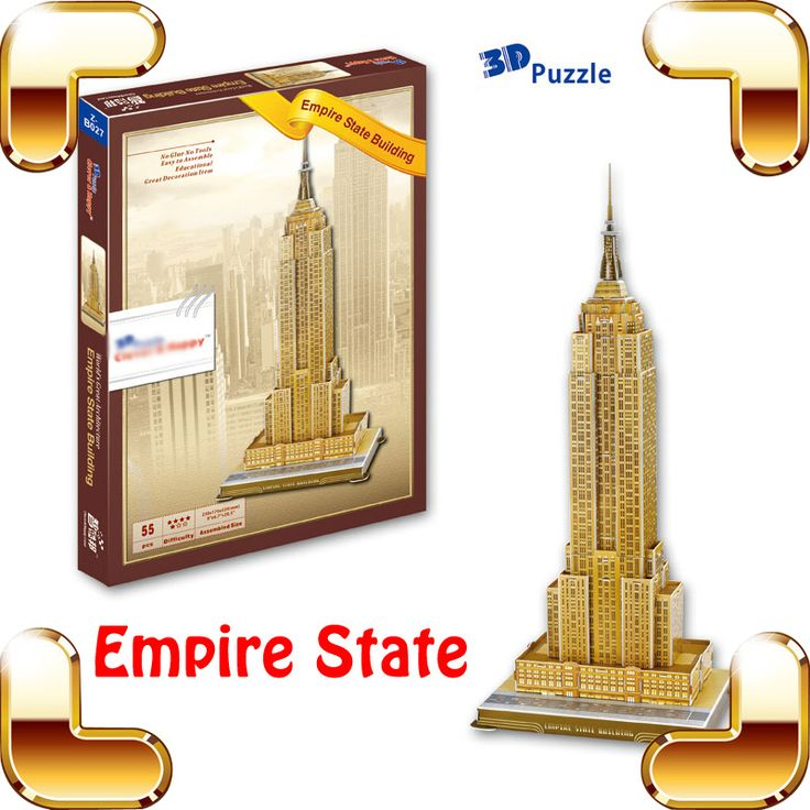 >> Click to Buy << New Year Gift Empire State 3D Puzzle Model High Rise Building Structure DIY Toy Educational Game Office House Decoration #Affiliate