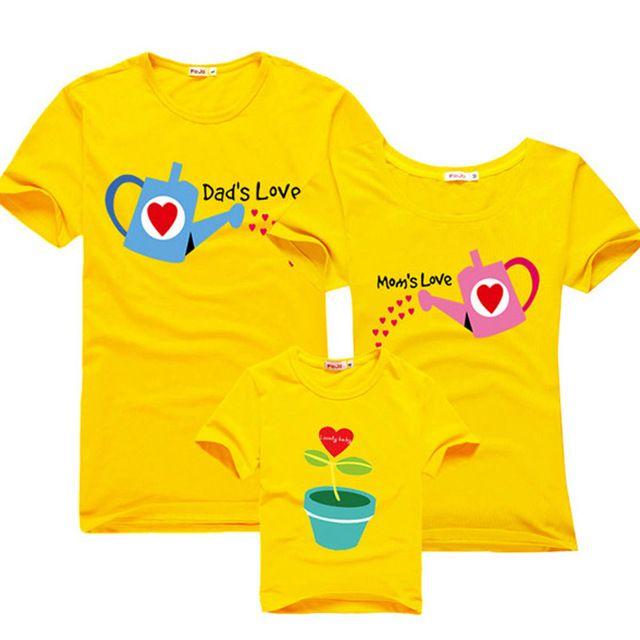 Hija de la madre ropa a juego/las semillas del amor/juego de ropa de la familia 100% de la familia de algodón trajes a juego padre madre hijo