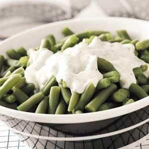 Green Beans with Dill Cream Sauce | Recipe | Green Beans, Cream Sauce ...
