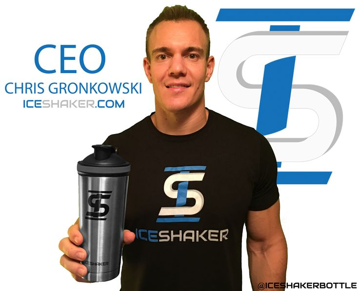 "The Ice Shaker™ water bottle and protein shaker cup was created and designed by Chris Gronkowski in 2016. Chris Gronkowski ice shaker protein mixing cup water bottle Chris Gronkowski is a former NFL player who played fullback for the Dallas Cowboys, Indianapolis Colts and the Denver Broncos.  A Note From the Owner, Chris Gronkowski: ""Since my NFL career ended I decided it was time to get rid of the excess weight I've been carrying for years and to get into shape."